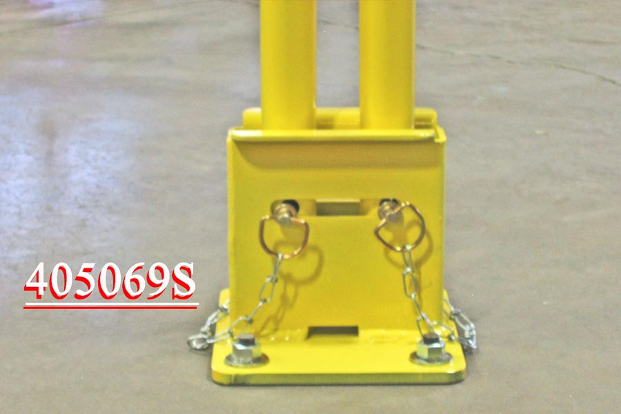 Box Mount Floor Mount For Permanent Guardrail Systems