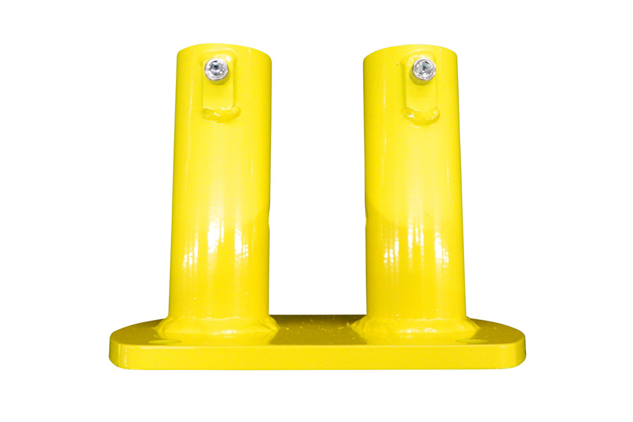 Double Post Floor Mount For Permanent Guardrail Systems