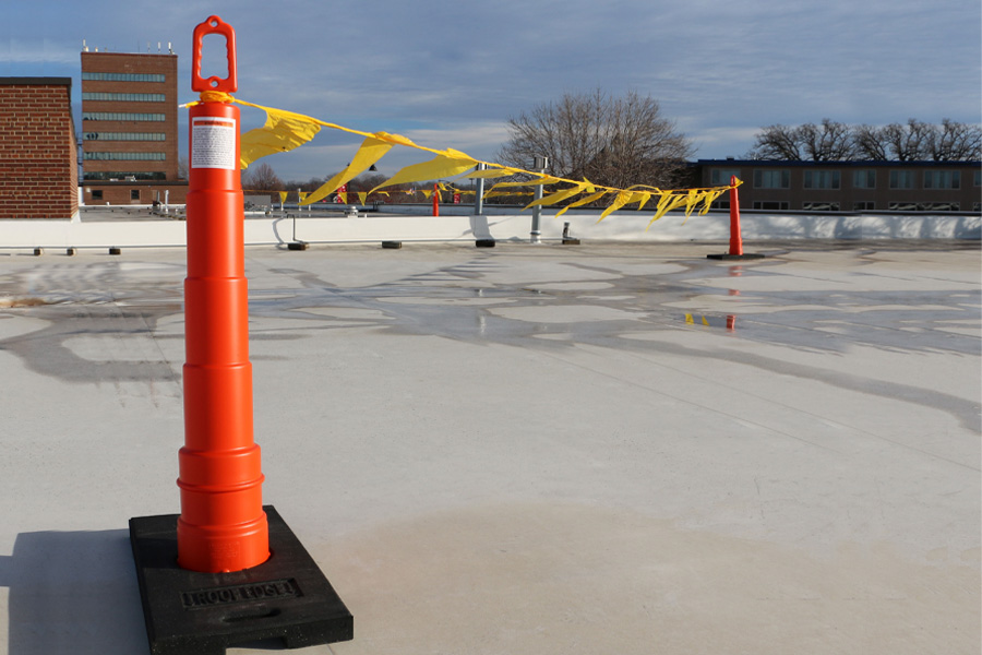 Never-Rust Delineator Stanchions and Rubber Base