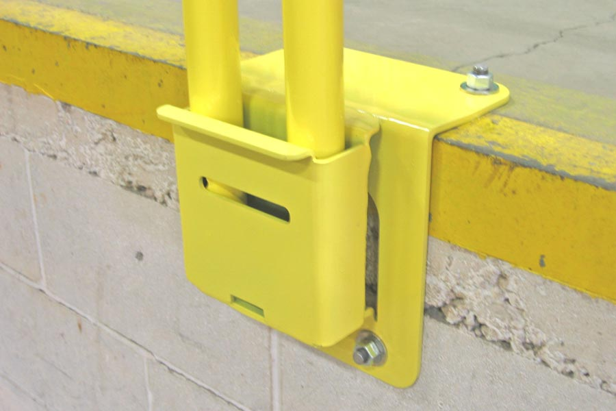 Box Style Wrap Over Edge Mounts For Permanent Guardrail Systems