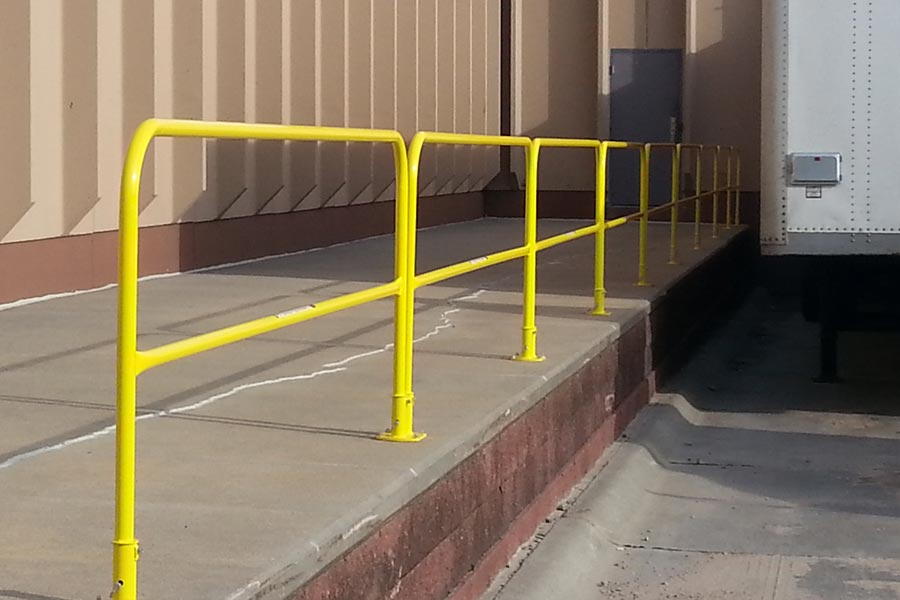 Permanent Guardrail Systems - Floor Mount Box Style Model - OSHA Compliant