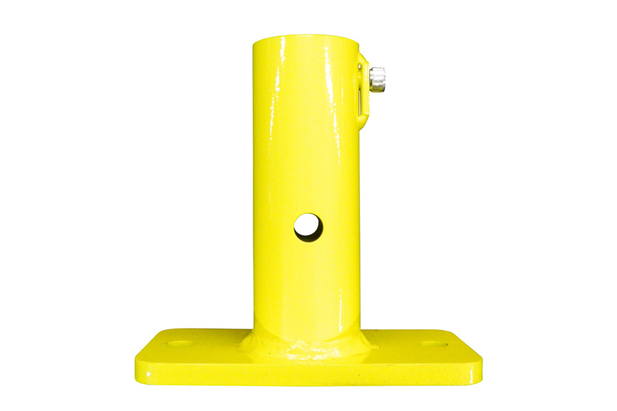 Single Post Floor Mount For Permanent Guardrail Systems